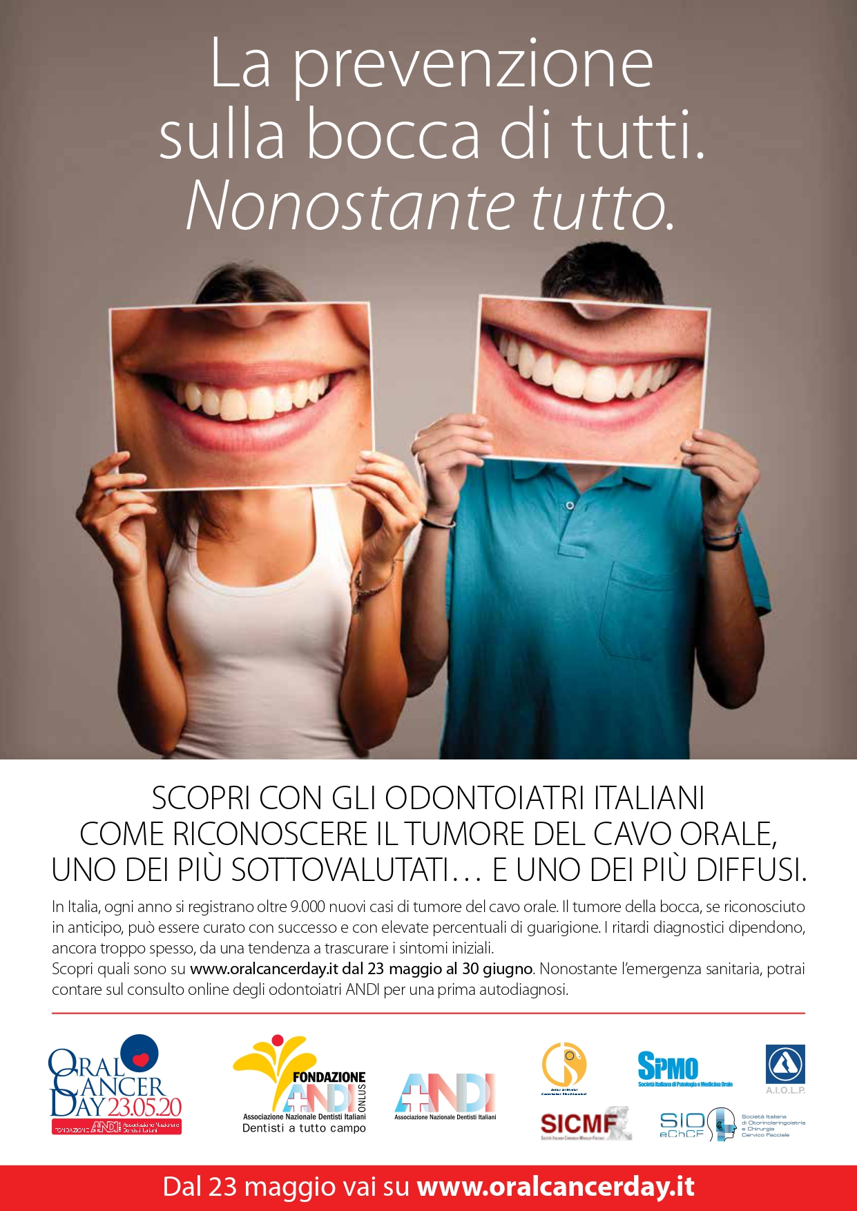 Oral Cancer Day - annuncio